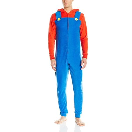 Yoshi Costume For Adults (Nintendo Mario Yoshi Faux Zelda Donkey Kong Union Suit Pajama Costume, Mario, Size:)