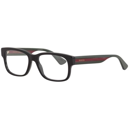 Gucci GG0343O Tri-Color Rectangular Eyeglasses 57 mm (Gucci Spectacle Frame)