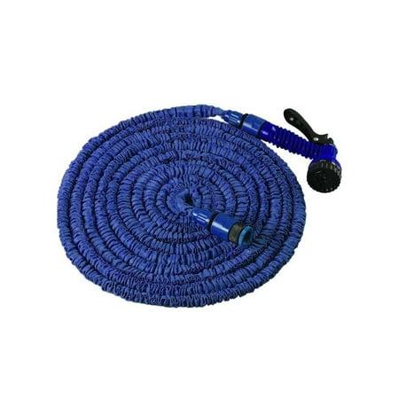 Blue Sport Hose (Tangle Free Expandable Garden Hose w/ Sprayer Attachment 25FT)