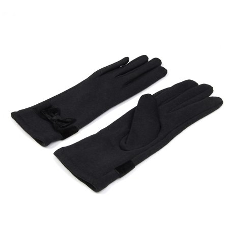 Bow Accent Gloves (Elegant Women's Winter Thermal Gloves with Bow )