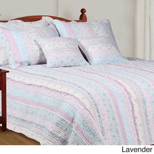 Bestbedding Inc. Romantic Chic Lace Quilt Set