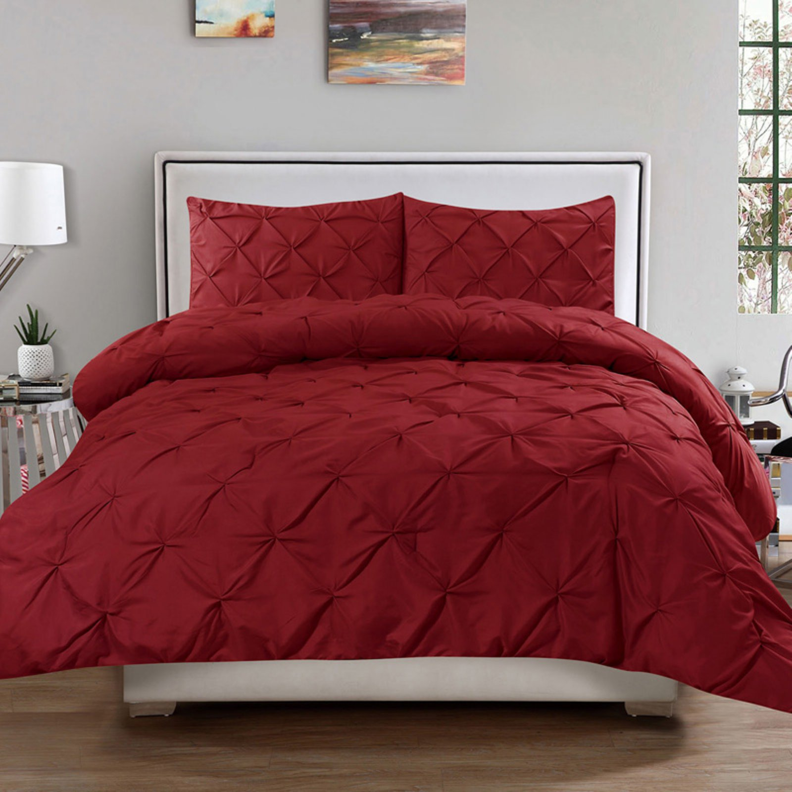 Luxury Pinch Pleat Pintuck Duvet Set by Sweet Home Collection