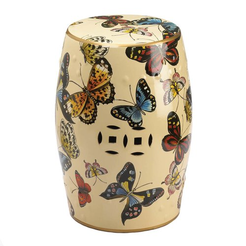August Grove Hays Butterflies in Flight Garden Stool