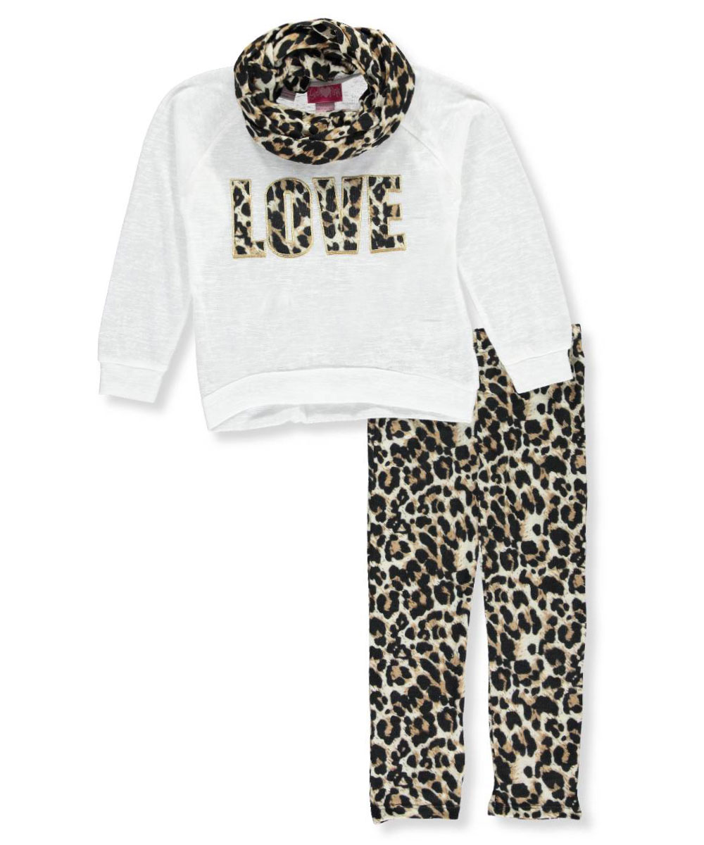 "Girls Luv Pink Big Girls' ""Infinite Love"" 2-Piece Outfit (Sizes 7 - 16)"
