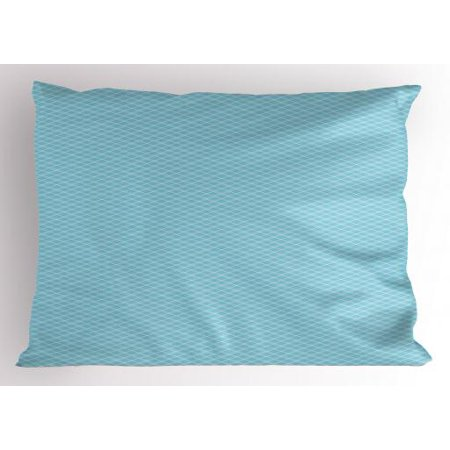 Vintage Blue Pillow Sham Classical Argyle Pattern Striped Checkered Traditional Old Fashioned, Decorative Standard Size Printed Pillowcase, 26 X 20 Inches, Baby Blue and White, by Ambesonne