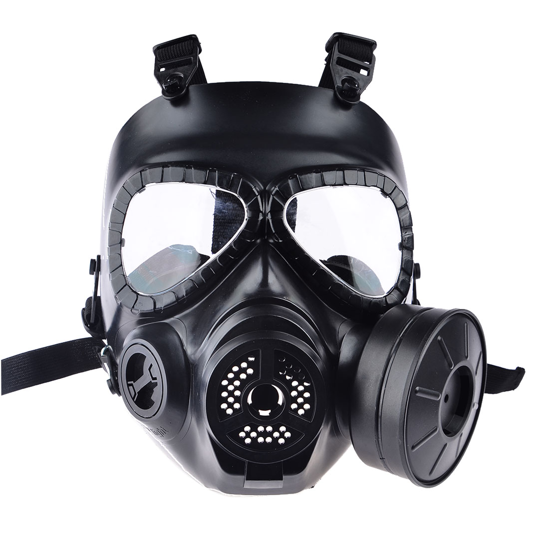 Airsoft Paintball Dummy Gas Mask with Fan for Cosplay Protection Halloween Evil Antivirus Skull