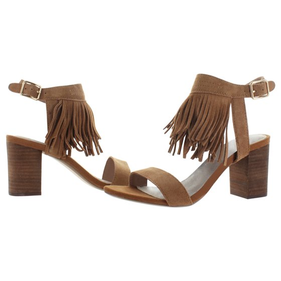 34063ad42 Restricted - Restricted Kissy Women s Fringe Chunky Heel Open Toe ...