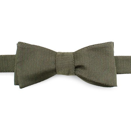 Ox and Bull Trading Co Green Solid Color Silk Bow Tie Wedding Formal Prom Tuxedo
