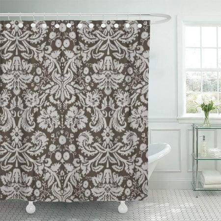 XDDJA Cute Dark Taupe Brown Damask Girly Vintage Retro Bridal Shower Curtain 60x72 inch - image 1 of 1