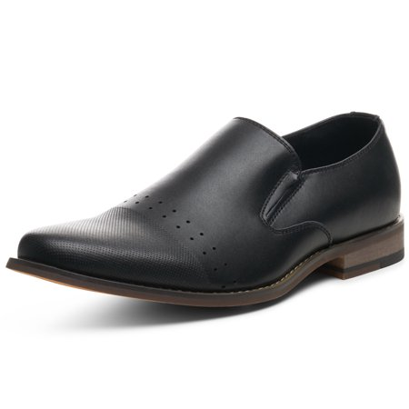 Alpine Swiss Double Diamond Mens Leather Loafers Oxford Slip-on Dress Shoes ()