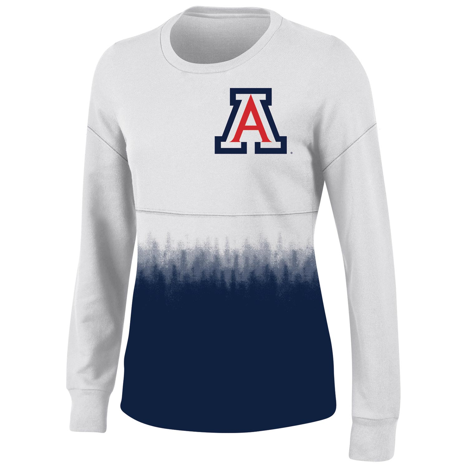 Women's White Arizona Wildcats Oversized Fan Long Sleeve T-Shirt