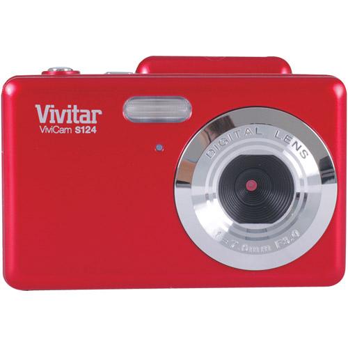 Vivitar Red VS124 Digital Camera with 16.1 Megapixels and 4x Optical Zoom by Vivitar