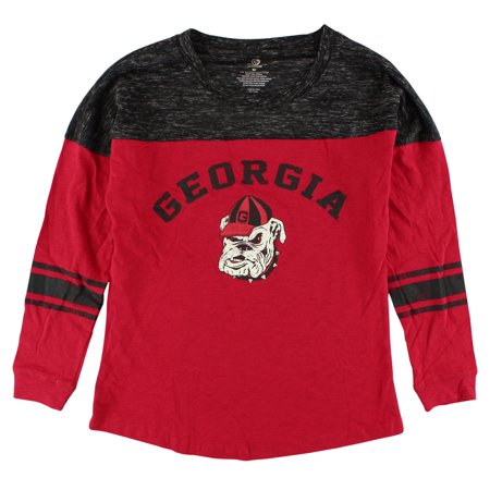 Colosseum Womens Georgia Bulldogs Sporadic Long Sleeve T Shirt Red
