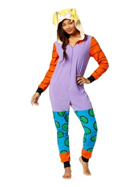 85064e27569 Product Image Briefly Stated Womens Angelica Pickles Hooded Pajama Union  Suit Small S Purple