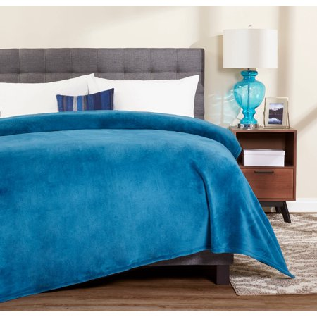 Mainstays Plush Twin Sapphire Bed Blanket, 1 Each
