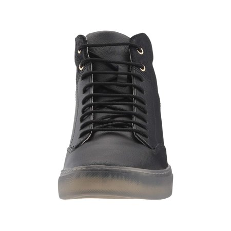 14130dd13a22 TCG - Tcg Men s Premium Shoe Porter All Leather High Top Laces Sneaker -  Walmart.com
