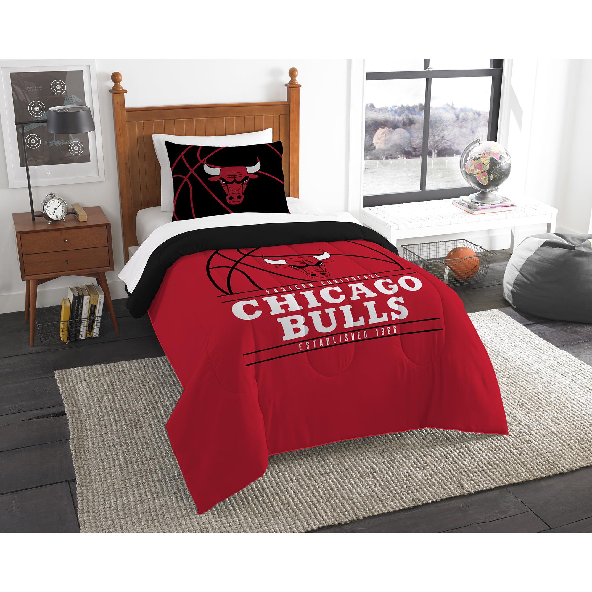 Nba Chicago Bulls Reverse Slam Bedding Comforter Set Walmart Com Walmart Com