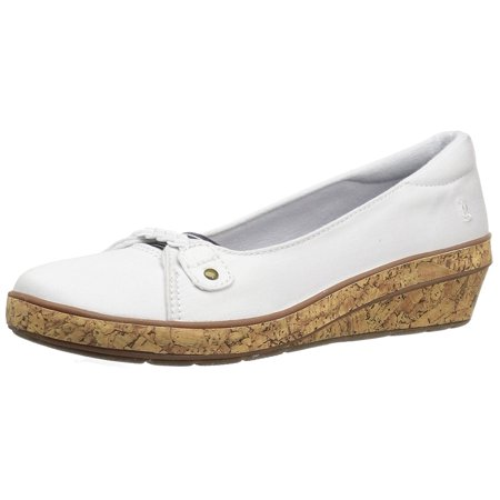 Grasshoppers Women's Harbor Wedge Fashion Sneaker, White, 8 N US