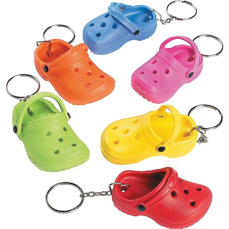 Lot of 12 Clog Rubber Slipper Key Chains Party Favors