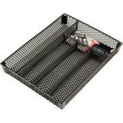 Small Cutlery Tray PE coated Black (Dims: 13 x 10.25 x 1.75 inch)