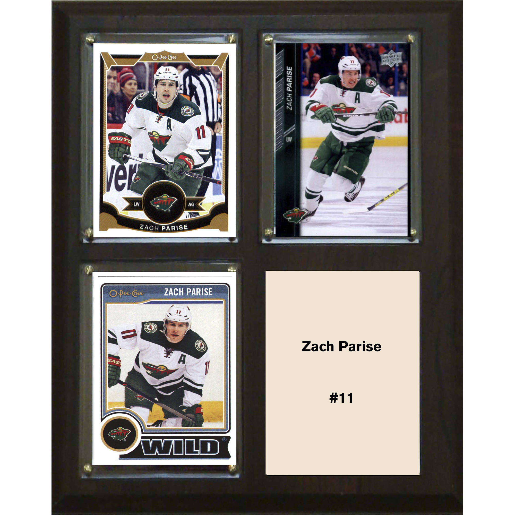 "C & I Collectables NHL 8"" x 10"" Zach Parise Minnesota Wild 3-Card Plaque"