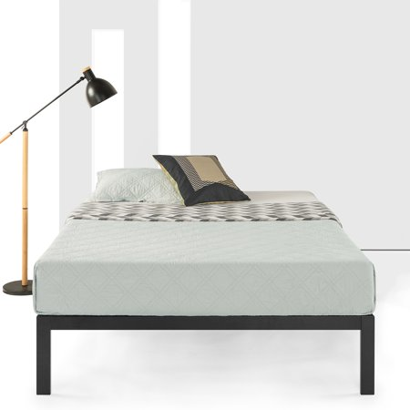 Best Price Mattress 14 Inch Heavy Duty Platform Metal Bed with Wooden Slat