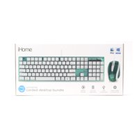 iHome Translucent Wired Keyboard & Mouse, Teal