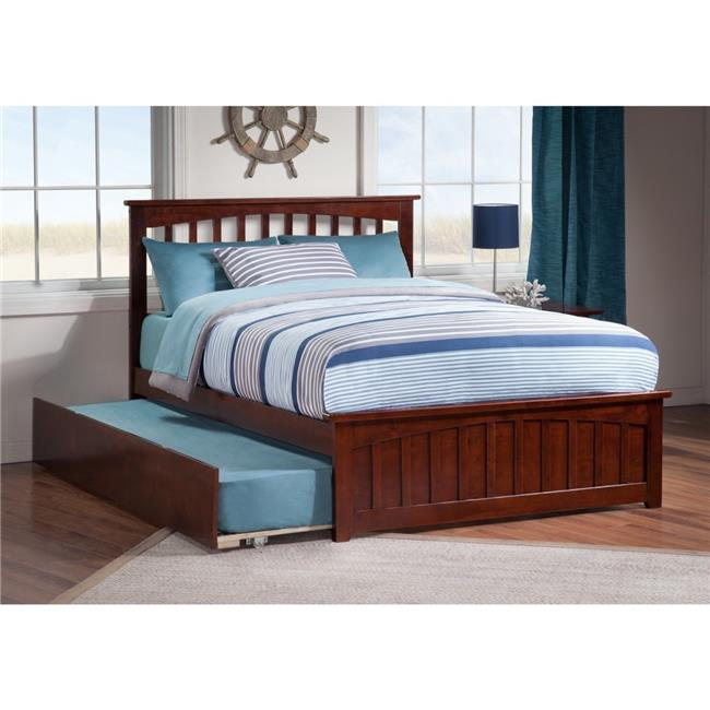 Mission Match Footboard with Urban Trundle Bed - Espresso, Twin Size