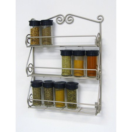 Spice Satin (Spectrum Scroll Wall Mount Spice Rack, Satin)