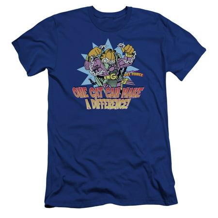 Garfield - Make A Difference - Premium Slim Fit Short Sleeve Shirt -