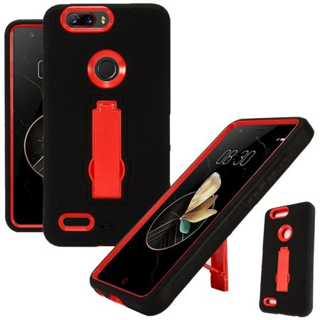 For ZTE Blade Z Max (MetroPCS) / ZTE ZMax Pro 2 / ZTE Grand X Max 4 / ZTE  Sequoia Case Symbiosis Armor Hybrid Silicone Phone Cover w/ Stand