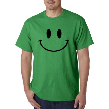- Trendy USA 849 - Unisex T-Shirt Smiley Face Emoticon Emoji Happy Smile 2XL Kelly Green
