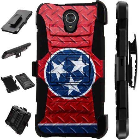 WORLD ACC LuxGuard Holster Compatible with Alcatel Onyx | TCL A1X A503DL Case Hybrid Phone Cover (Tennessee Flag