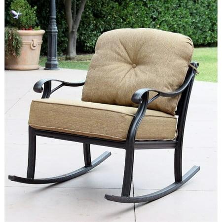 Nassau Patio - Darlee Nassau Patio Rocking Chair in Antique Bronze (Set of 2)