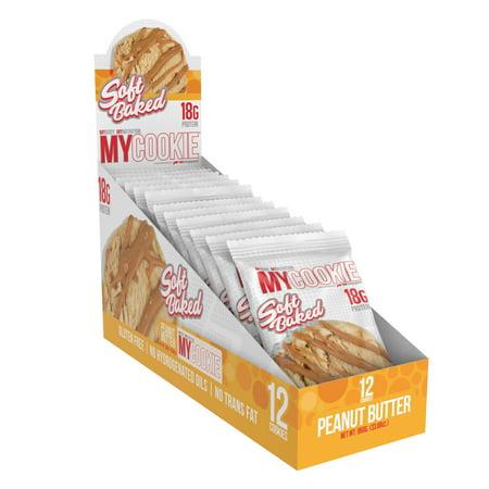 MyCookie, Soft Baked Protein Cookie, Peanut Butter, 12 Count - Halloween Peanut Butter Pumpkin Cookies