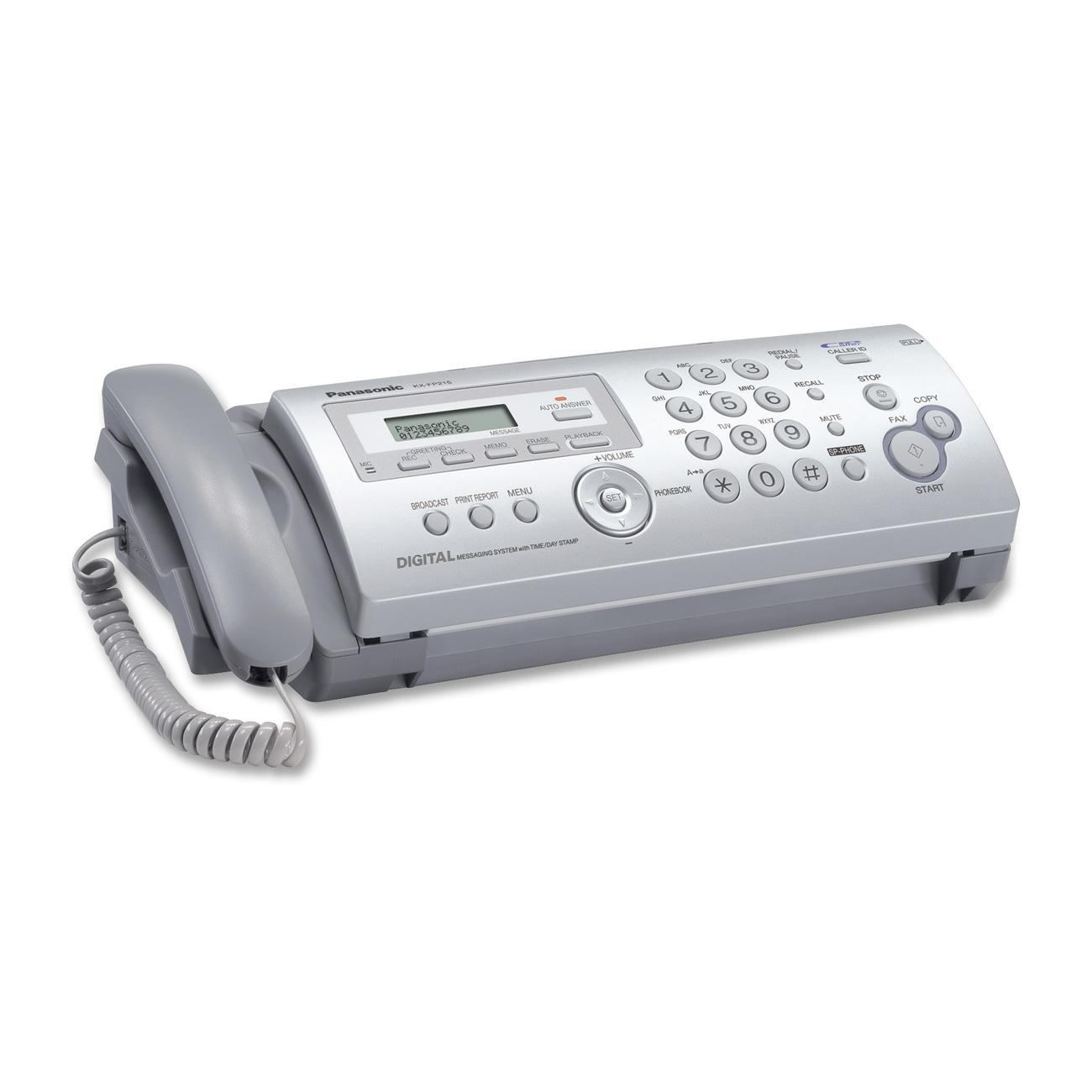 Panasonic Plain Ppr Faxcopier With Answering System White