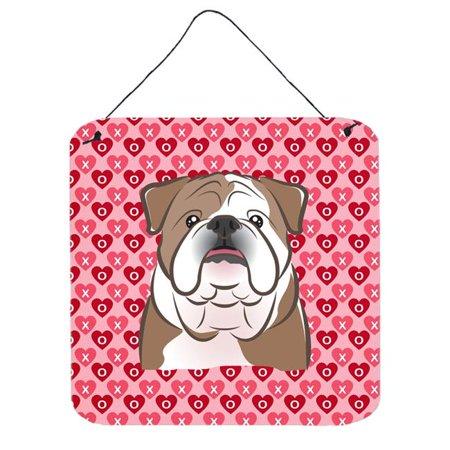 Carolines Treasures BB5289DS66 English Bulldog Hearts Wall or Door Hanging Prints - image 1 of 1