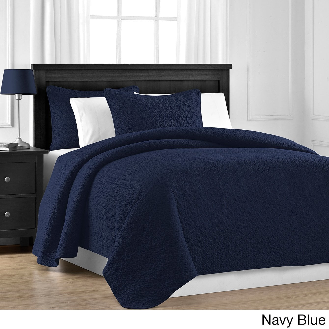 Staniey Collection Prewashed Jigsaw Quilted 3-piece Coverlet Set