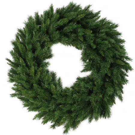 "24"" Lush Mixed Pine Artificial Christmas Wreath - Unlit - image 2 de 2"