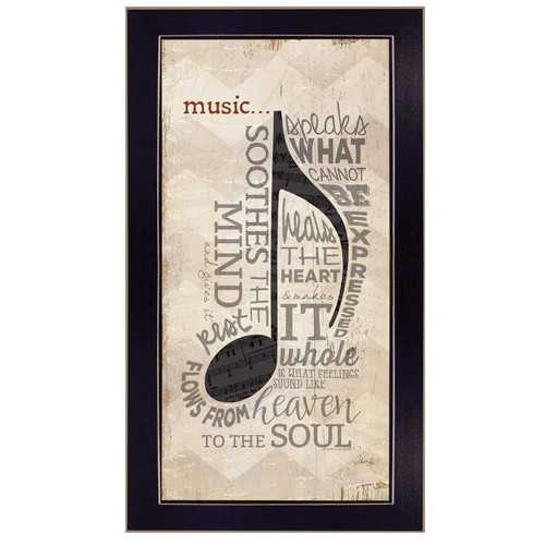 Trendy Decor 4U 'Music' Framed Textual Art