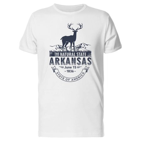 Arkansas Game Day Tee (The Natural State Arkansas 1836 Tee Men's -Image by)