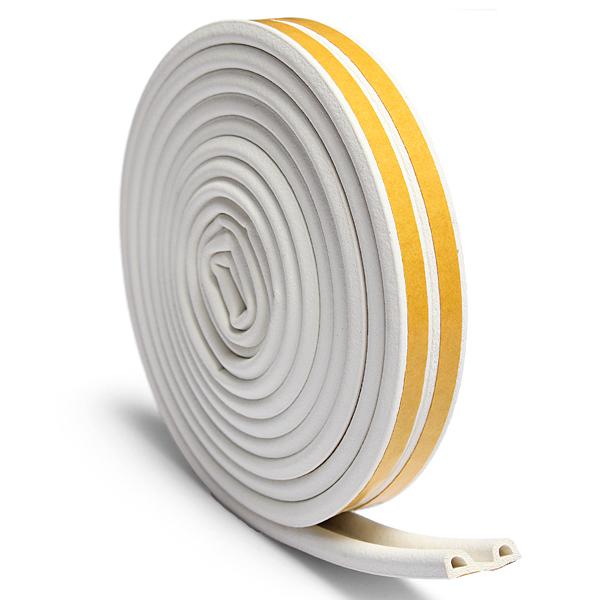 5M D-type Self Adhesive Home Window Door Draft Draught Rubber Excluder Foam Seal Strip Excluding Rubber 3 Color