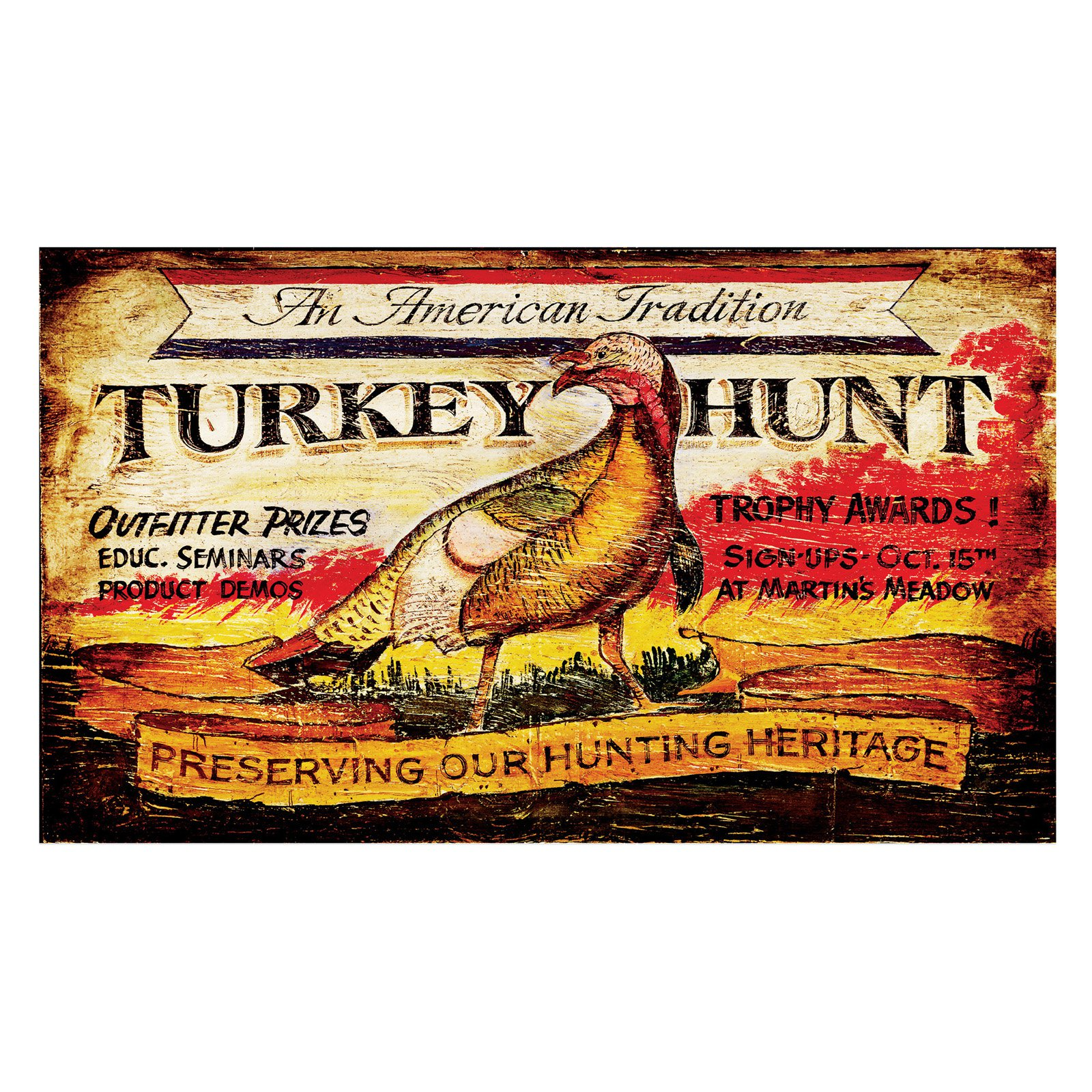Turkey Hunt Wall Art - 26W x 15H in.