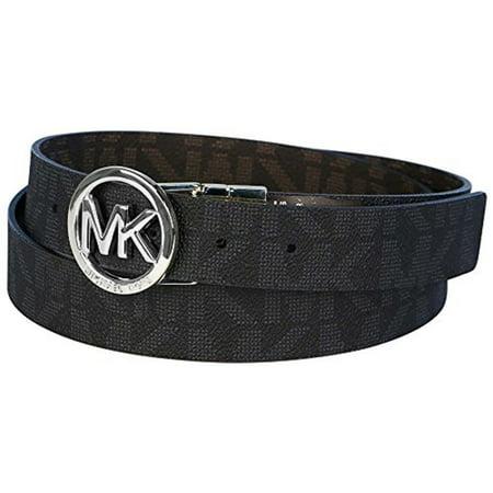 Michael Kors MK Logo Signature Twist Reversible Belt 551342C, Black To Brown, XL