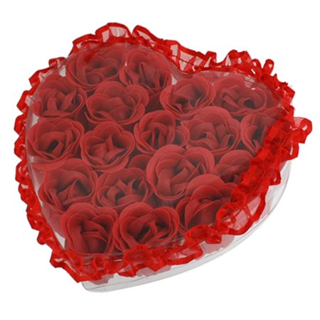 ... Scented Red Rose Bath Soaps Flower Petal Heart Gift Box - Walmart.com