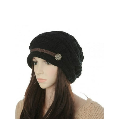 Women Top Hat (Soft Warm Wool Hat Cap Winter Fleeced Inside Thick Ear Flaps Women Fashion )