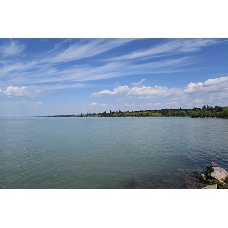 Hungarian Water - LAMINATED POSTER Outlook Lake Balaton Water Hungary Lake Balaton Poster 24x16 Adhesive Decal