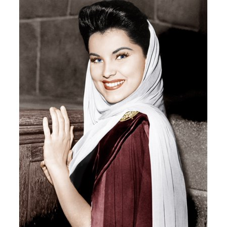 Prince Valiant Debra Paget On-Set 1954 20Th Century Fox Tm & Copyright  Courtesy Everett Collection Photo Print
