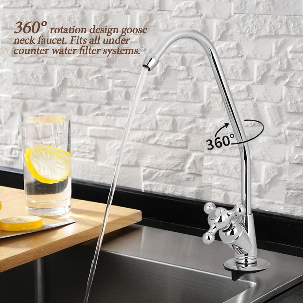 Eecoo Kitchen Faucet Tap 1 4 Zinc Alloy Kitchen Faucet Tap Chrome