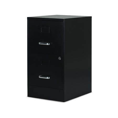 Staples 2-Drawer Vertical File Cabinet Locking Letter Black 18